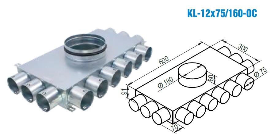 Rozdeľovací box KL-12x75160-OC